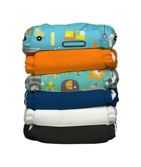 Set economic 6 scutece textile refolosibile Charlie Banana Super Dude