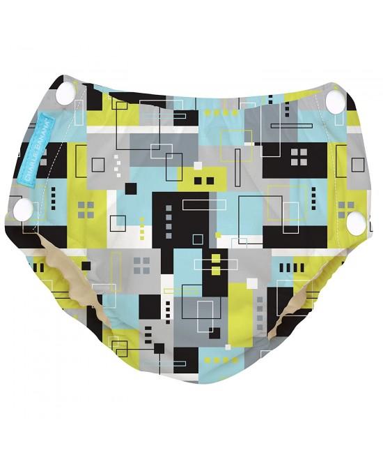 Scutec refolosibil de înot Charlie Banana cu interior de Tencel și capse laterale - model Picasso