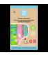 Set 3 scutece textile Charlie Banana Florida Safari Pink ORGANIC cu inserturi noi de cânepă cu fleece (scutece hibrid, cu buzunar sau AI2) - mărime unică