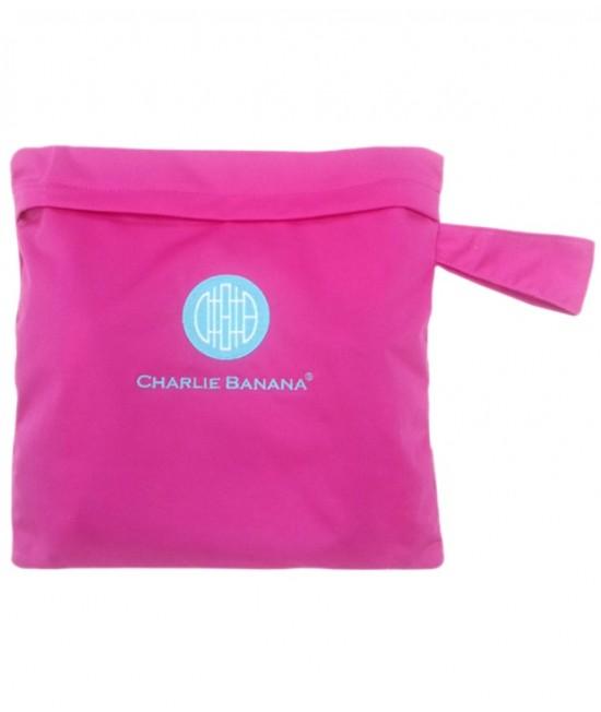 Gentuță pentru scutece lavabile - wet bag Charlie Banana Hot Pink (roz)