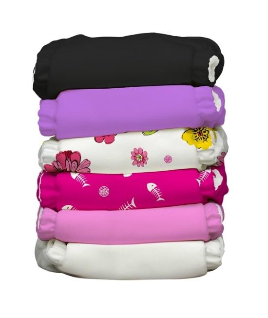 Set economic 6 scutece textile refolosibile Charlie Banana Sassy
