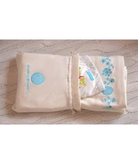 Set cadou pentru nou-născuți: o pătură din bumbac organic și un scutec textil Charlie Banana X-Small Hello Cloth