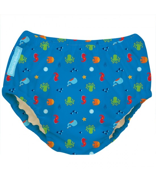 Scutec refolosibil de înot Charlie Banana cu interior de Tencel - model Under the sea