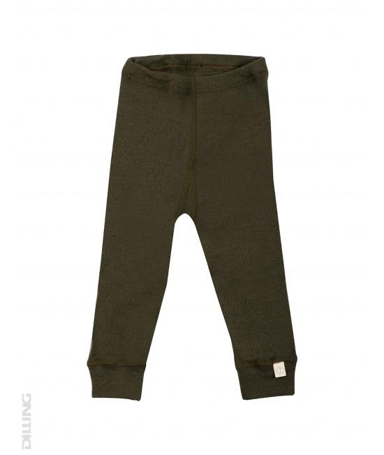 Pantaloni verzi (leggings, colanți) din lână Merinos organică Dilling Underwear pentru bebeluși - model 2017