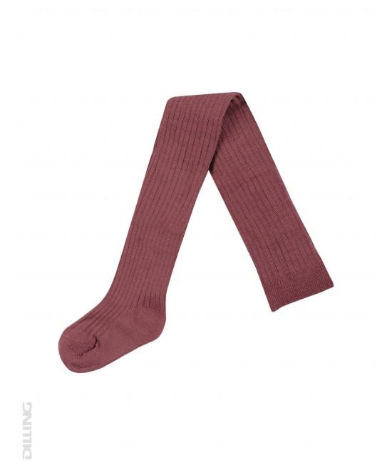 Ciorapi roșii striați din lână Merinos organică Dilling Underwear pentru bebeluși