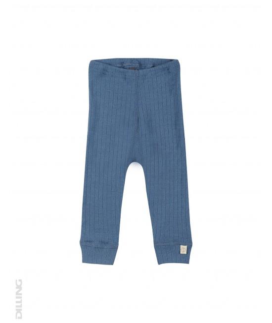 Colanți albaștri striați din lână Merinos organică Dilling Underwear pentru bebeluși