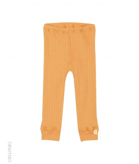 Colanți galbeni striați din lână Merinos organică Dilling Underwear pentru bebeluși