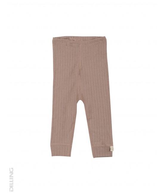 Colanți roz vintage striați din lână Merinos organică Dilling Underwear pentru bebeluși