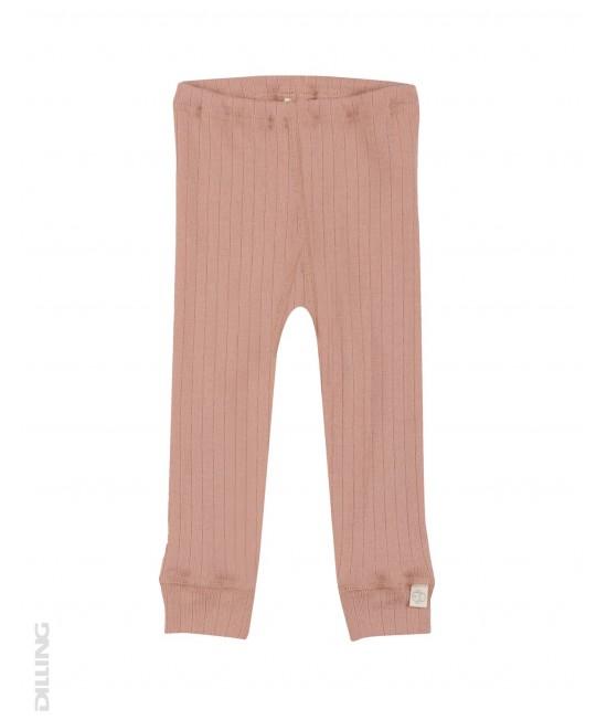 Colanți roz striați din lână Merinos organică Dilling Underwear pentru bebeluși