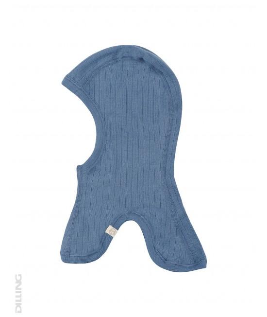Cagulă albastră din lână Merinos organică Dilling Underwear pentru copii