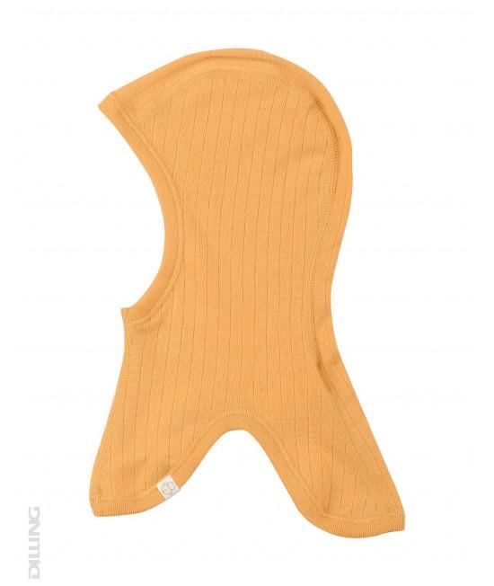 Cagulă galbenă din lână Merinos organică Dilling Underwear pentru copii