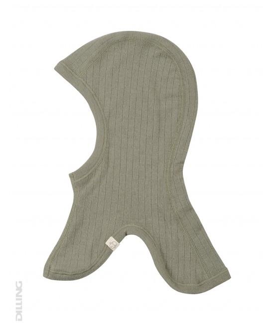 Cagulă verde din lână Merinos organică Dilling Underwear pentru copii