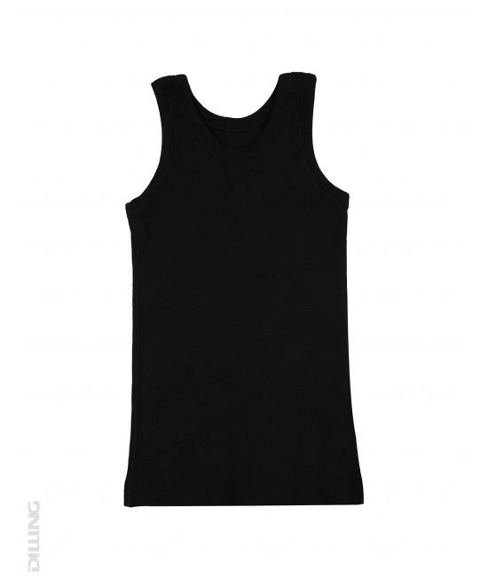 Maieu negru din lână Merinos organică Dilling Underwear pentru copii