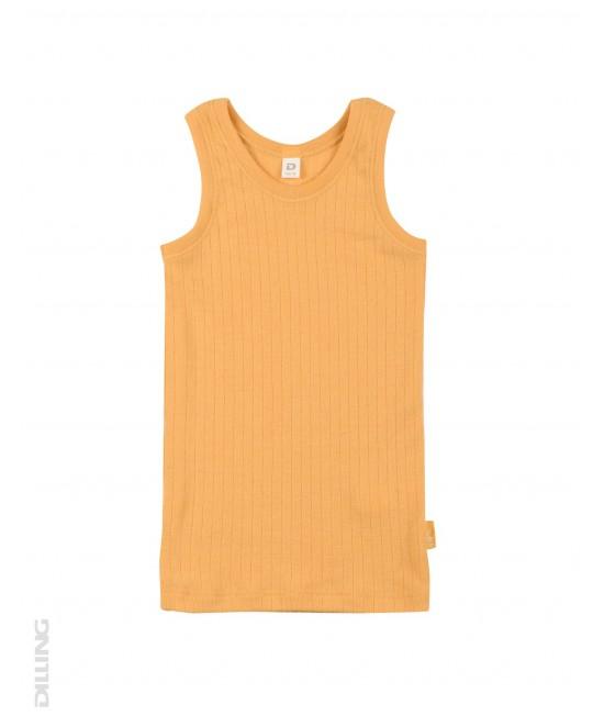 Maieu galben striat din lână Merinos organică Dilling Underwear pentru copii
