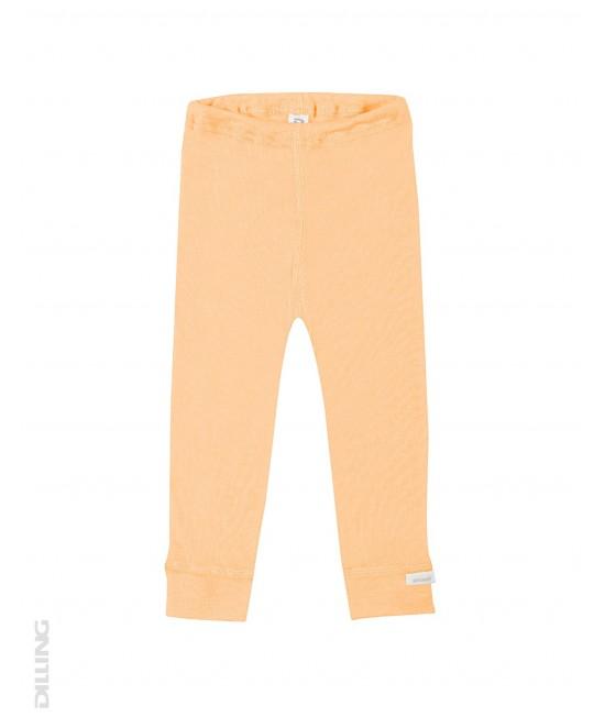 Colanți portocalii din lână Merinos organică și mătase Dilling Underwear pentru bebeluși