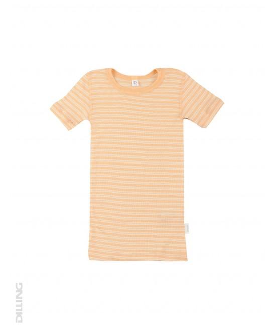 Tricou portocaliu din lână Merinos organică și mătase Dilling Underwear pentru copii