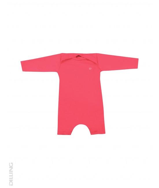 Salopetă roz pentru bebeluși - cu filtru UV UPF 50+ pentru protecție solară Dilling Underwear