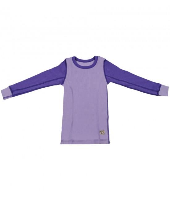 Bluză mov de corp din lână Merinos organică Dilling Underwear - model 2015
