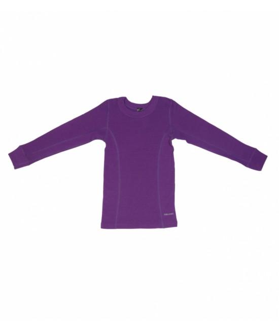 Bluză mov de corp din lână Merinos organică Dilling Underwear pentru copii