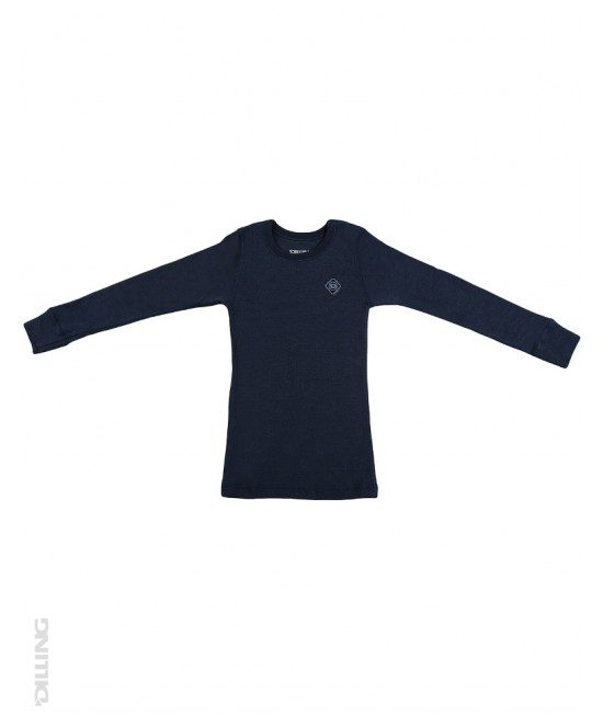 Bluză bleumarin de corp din lână Merinos organică Dilling Underwear pentru copii
