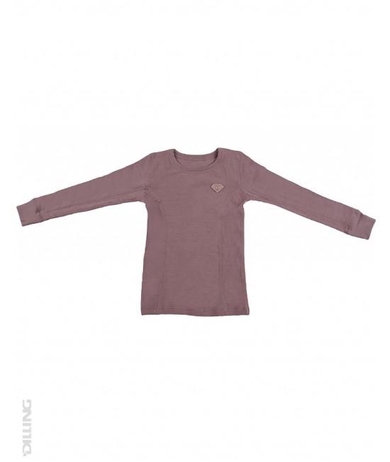 Bluză roz de corp din lână Merinos organică Dilling Underwear pentru copii