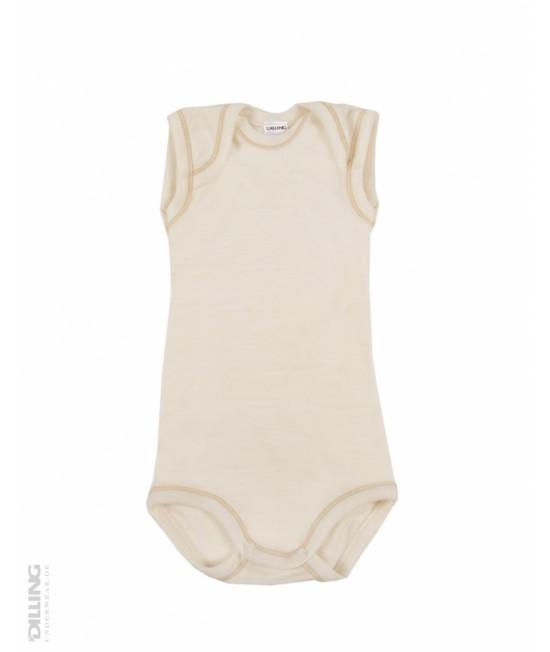 Body natur fără mâneci din lână Merinos organică Dilling Underwear