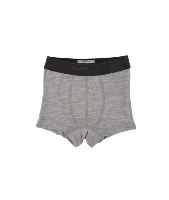 Chiloți - boxer gri din lână Merinos organică Dilling Underwear