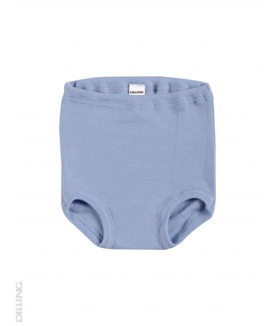 Chiloți albaștri din lână Merinos organică Dilling Underwear