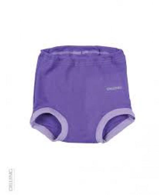 Chiloți mov din lână Merinos organică Dilling Underwear