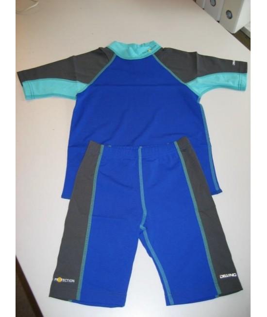 Tricou albastru pentru copii - cu filtru UV pentru protecție solară Dilling Underwear