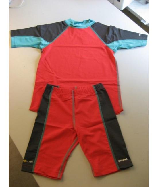 Tricou roșu & albastru pentru copii - cu filtru UV pentru protecție solară Dilling Underwear