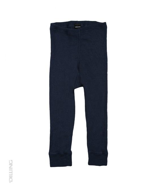 Pantaloni (leggings, colanți) albaștri din lână Merinos organică Dilling Underwear pentru bebeluși