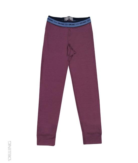 Pantaloni (leggings, colanți) mov din lână Merinos organică Dilling Underwear pentru copii - model 2016