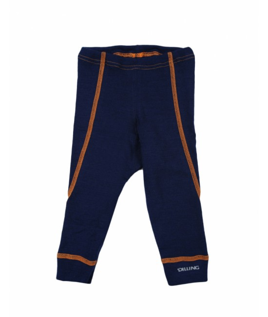 Pantaloni albaștri (leggings, colanți) din lână Merinos organică Dilling Underwear pentru bebeluși - model nou