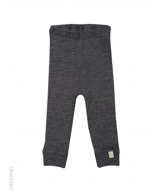 Pantaloni gri (leggings, colanți) din lână Merinos organică Dilling Underwear pentru bebeluși - model 2017