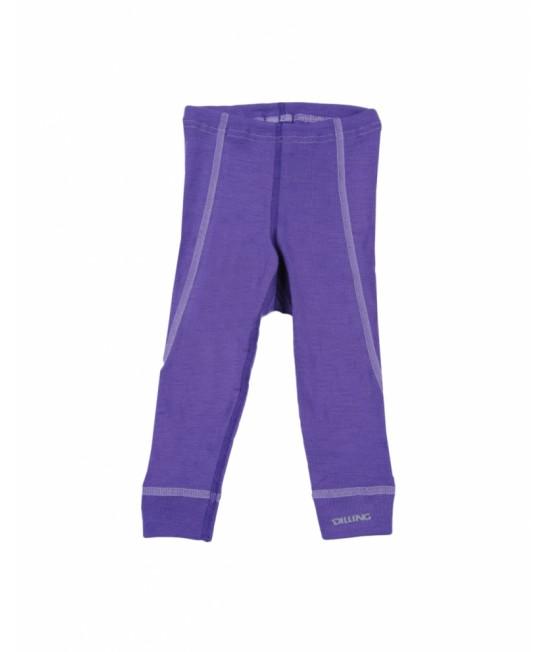 Pantaloni mov (leggings, colanți) din lână Merinos organică Dilling Underwear pentru bebeluși - model 2015