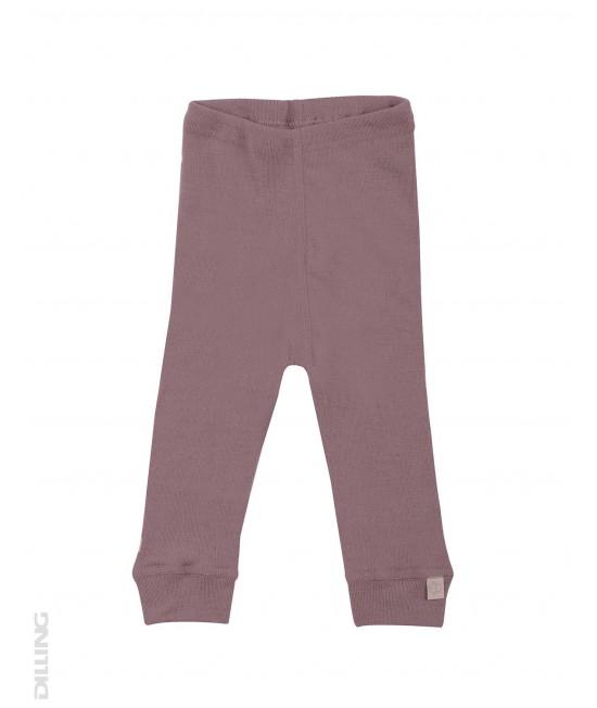 Pantaloni roz (leggings, colanți) din lână Merinos organică Dilling Underwear pentru bebeluși - model 2017
