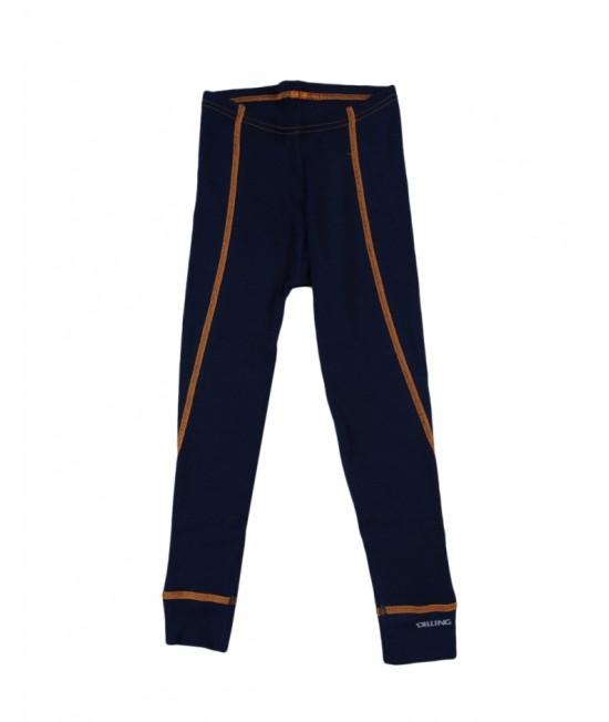 Pantaloni (leggings, colanți) albaștri din lână Merinos organică Dilling Underwear pentru copii