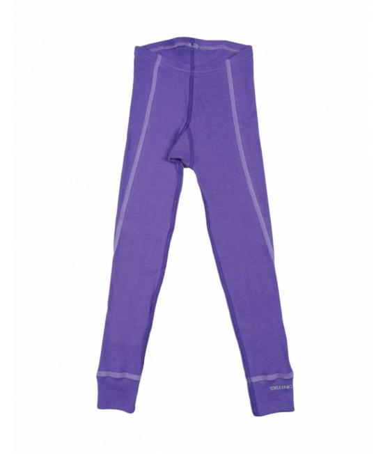 Pantaloni (leggings, colanți) mov din lână Merinos organică Dilling Underwear pentru copii