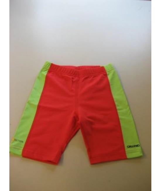 Pantaloni scurți roșii pentru copii cu filtru UV pentru protecție solară Dilling Underwear