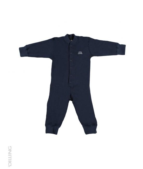 Salopetă overall bleumarin din lână Merinos organică Dilling Underwear