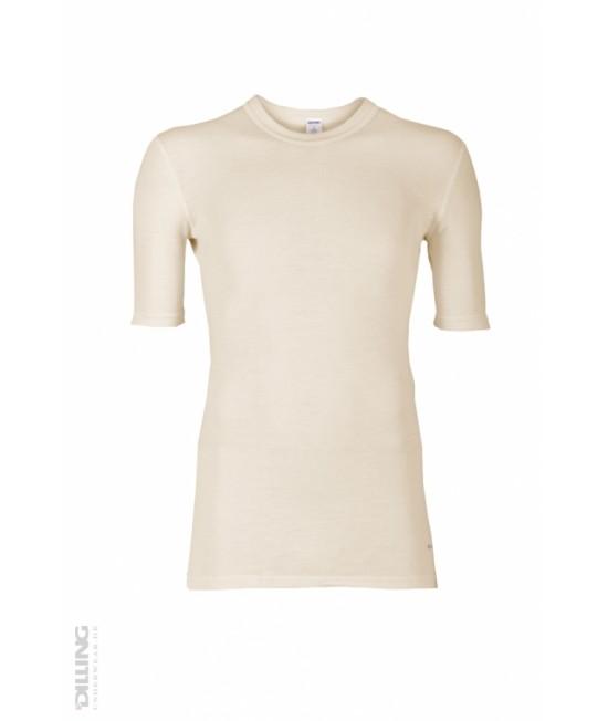 Tricou natur din lână Merinos organică Dilling Underwear pentru bărbați