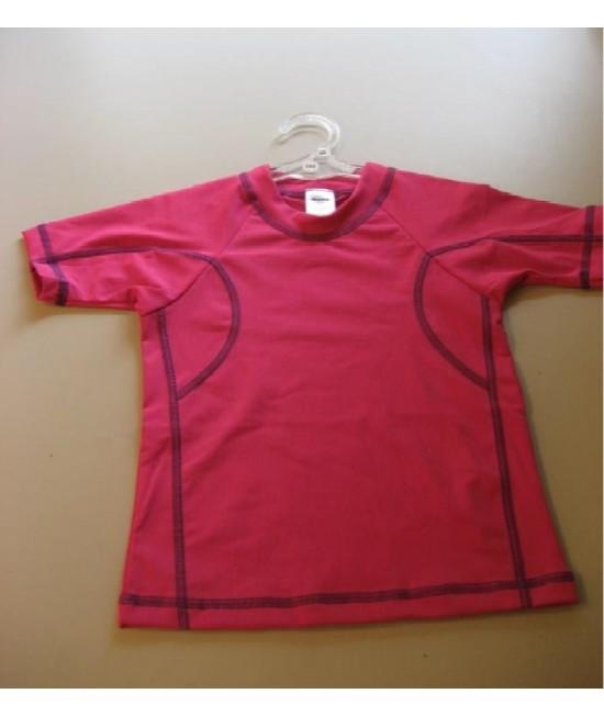 Tricou roz pentru copii - cu filtru UV pentru protecție solară Dilling Underwear