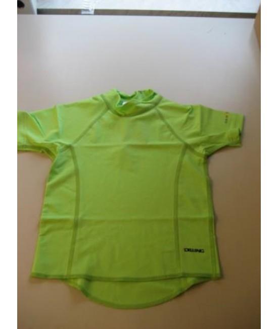 Tricou verde pentru copii - cu filtru UV pentru protecție solară Dilling Underwear