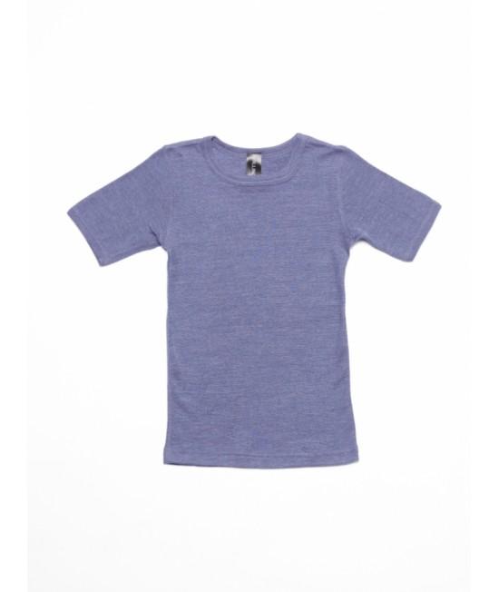Tricou din lână Merino BIO și mătase Dilling Underwear - Lavandă