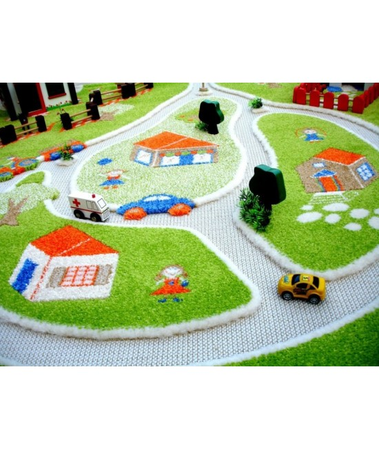 Covor de joacă pentru copii 3D - IVI Farm Yard 100 x 150