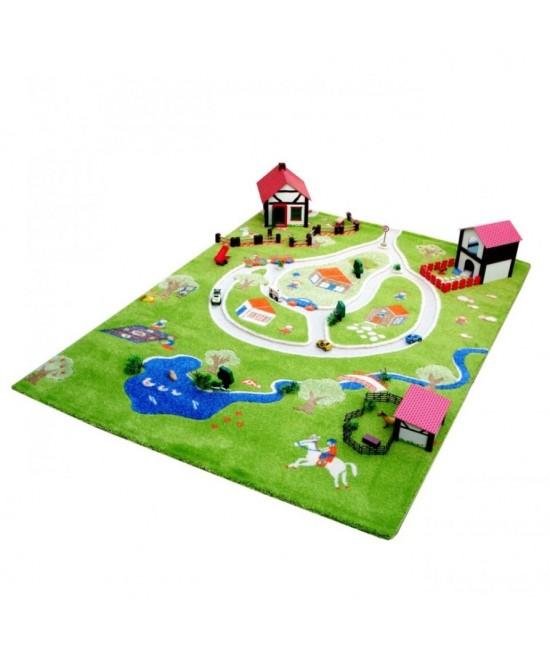 Covor de joacă pentru copii 3D - IVI Farm Yard 160 x 230