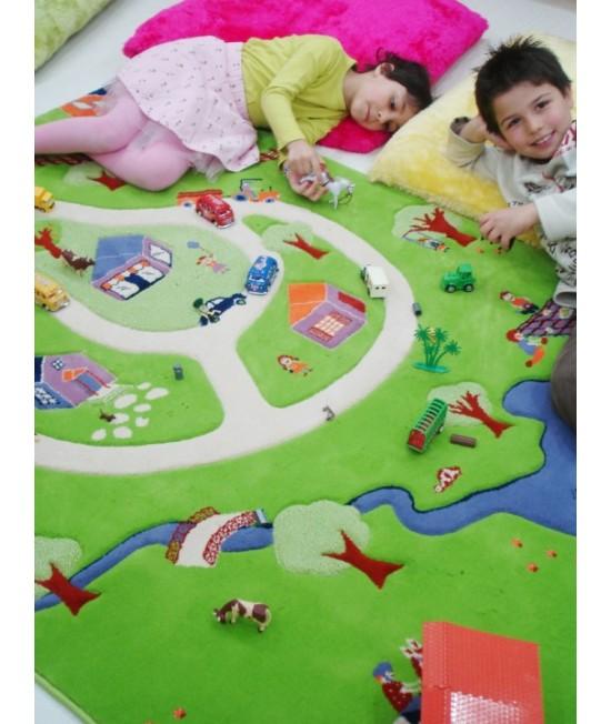 Covor de joacă pentru copii 3D - IVI Farm Yard 134 x 180