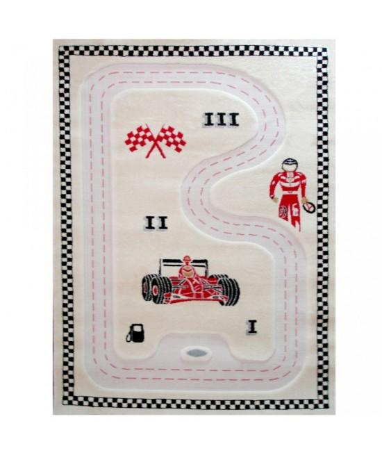 Covor de joacă pentru copii 3D - IVI Formula 1 134 x 180