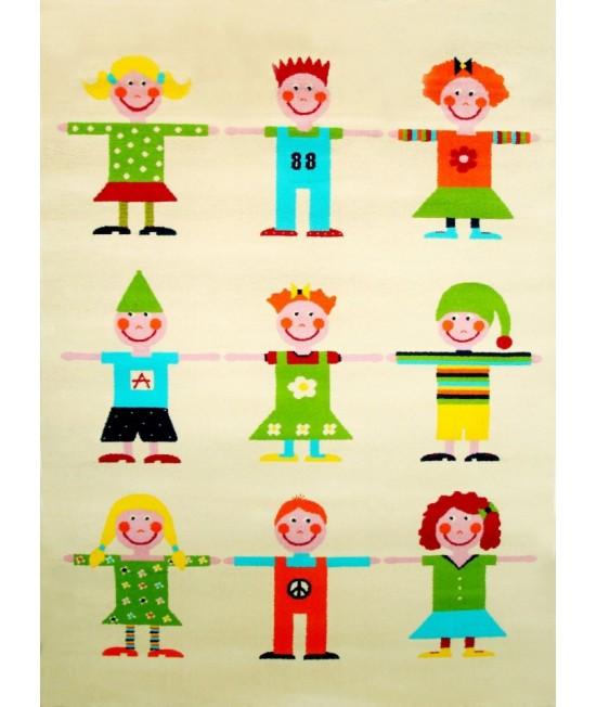Covor de joacă pentru copii 3D - IVI Friendship In Pink 134 x 180